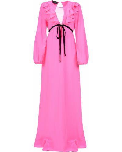 Розовое платье Rochas