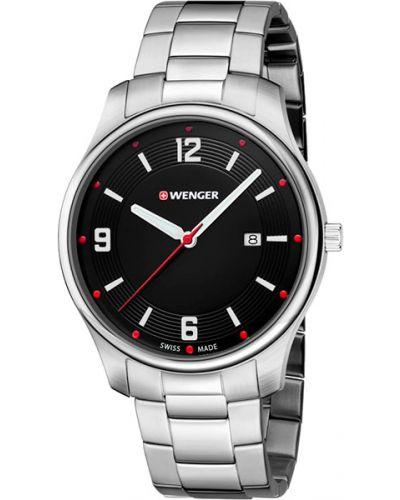 Часы водонепроницаемые с подсветкой стрелочные Wenger