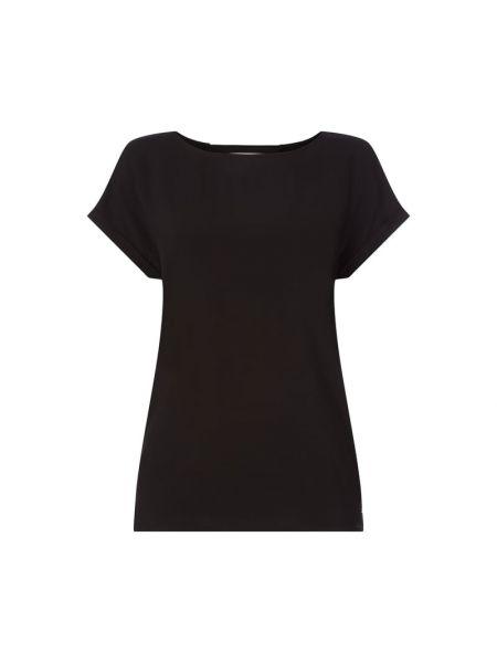 Czarna bluzka z wiskozy z paskiem Tom Tailor Denim