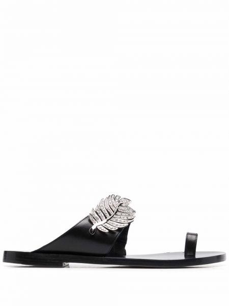 Sandały skórzane - czarne Nicholas Kirkwood