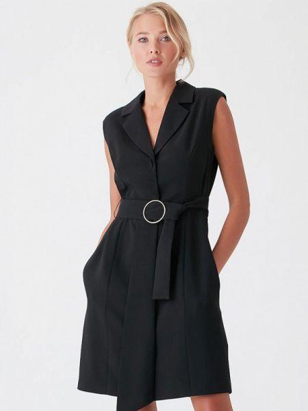 Платье с запахом черное Love Republic