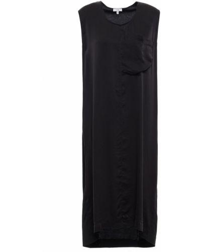 Трикотажное платье миди - черное Clu