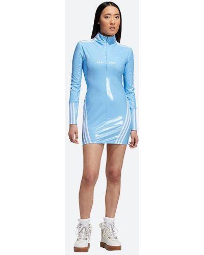 Синее платье латексное Adidas Originals
