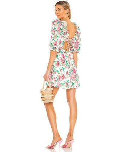 Платье мини с открытой спиной - бежевое For Love & Lemons