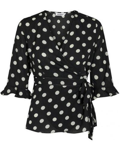 Блузка в горошек - черная Co'couture