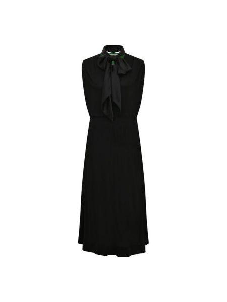 Платье миди шелковое черное Givenchy