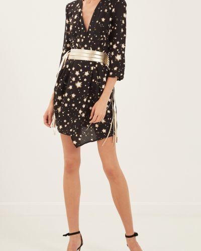 Платье мини с бахромой с поясом Elisabetta Franchi