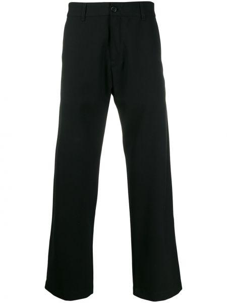 Черные брюки с поясом на пуговицах Adish