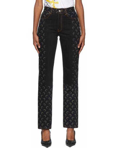 Джинсовые прямые джинсы - черные Marine Serre