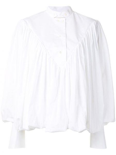Белая рубашка с воротником на пуговицах со складками Palmer / Harding