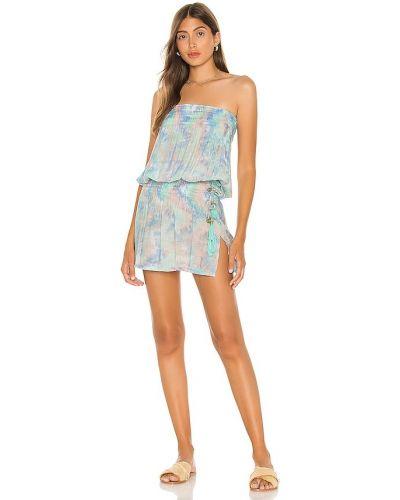 Платье с декольте - синее Tiare Hawaii