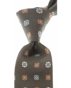 Zielony krawat z jedwabiu Borrelli
