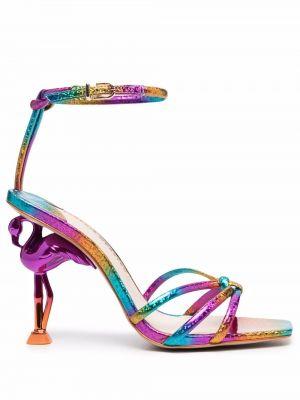 Розовые кожаные сандалии Sophia Webster