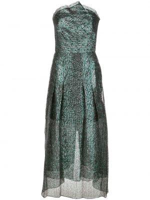 Zielona sukienka długa rozkloszowana Roland Mouret