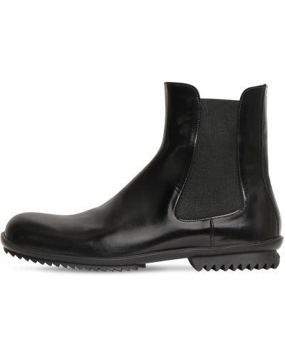 Кожаные ботинки челси со вставками эластичные Maison Margiela