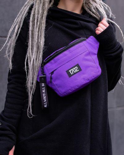 Фиолетовая поясная сумка с карманами оверсайз Without