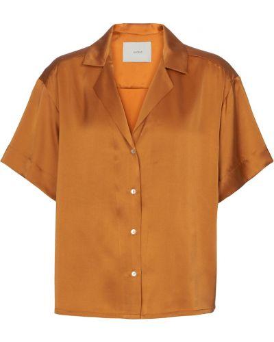 Шелковая рубашка золотая Asceno