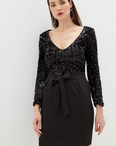 Костюмный черный юбочный костюм Miss Gabby