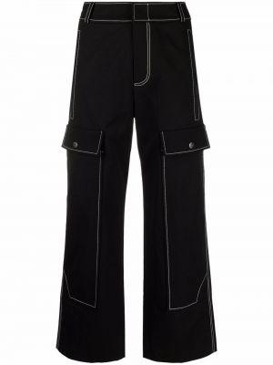 Czarne spodnie z paskiem Rejina Pyo