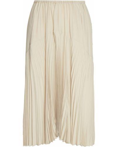 Плиссированная юбка широкая шелковая Vince.