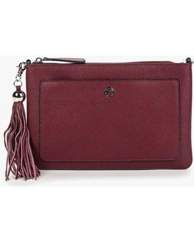 Кожаный сумка через плечо бордовый Fabretti