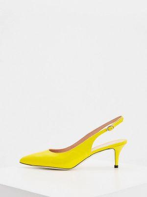 Кожаные туфли - желтые Pollini