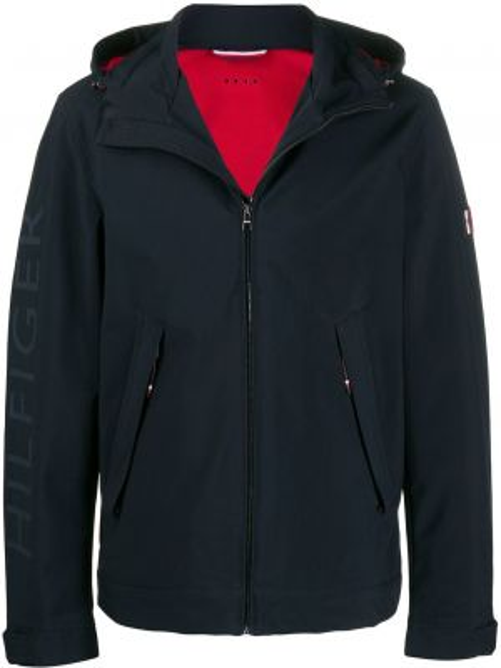 Куртка с капюшоном на пуговицах с манжетами Tommy Hilfiger