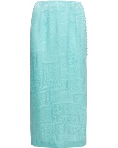 Satynowa spódnica - turkusowa Rotate