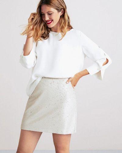 Белая блузка с длинным рукавом Violeta By Mango