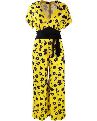Żółty kombinezon Diane Von Furstenberg