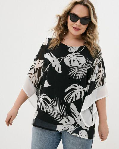 Черная блузка с короткими рукавами Sophia