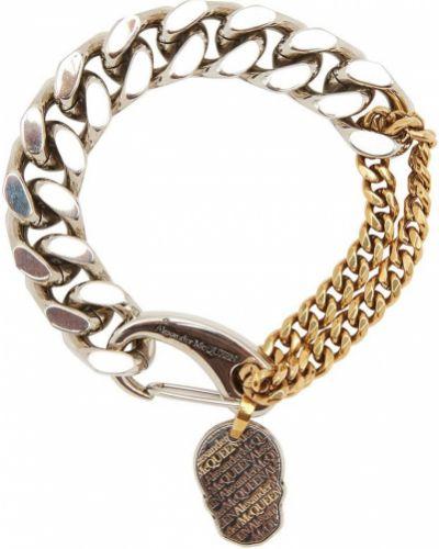 Bransoletka łańcuch srebrna Alexander Mcqueen