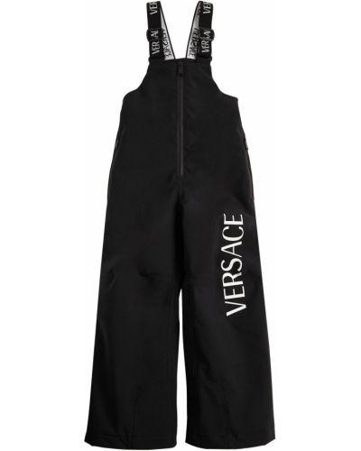 Spodnie na gumce z logo nylon Versace