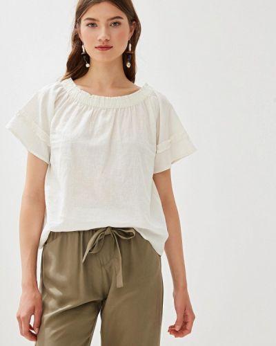 Блузка с открытыми плечами белая весенний Nice & Chic