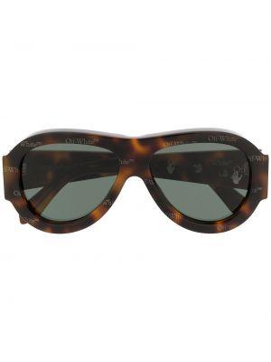 Brązowe okulary oversize Off-white