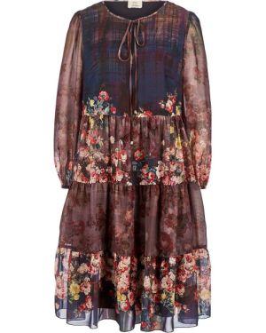 Платье миди с цветочным принтом с принтом Vera Moni