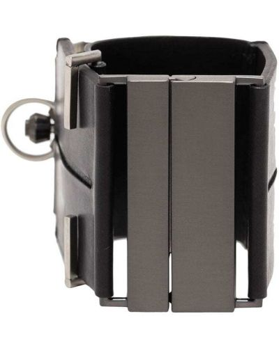 Czarny zegarek na skórzanym pasku skórzany do pracy Fob Paris