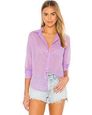 Фиолетовый футбольный топ на пуговицах с карманами Frank & Eileen