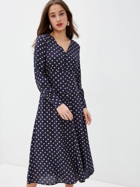Платье прямое синее Bulmer