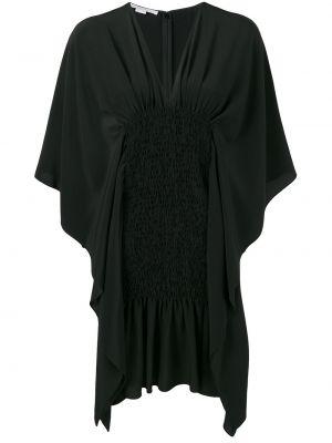 Шелковое платье мини - черное Stella Mccartney
