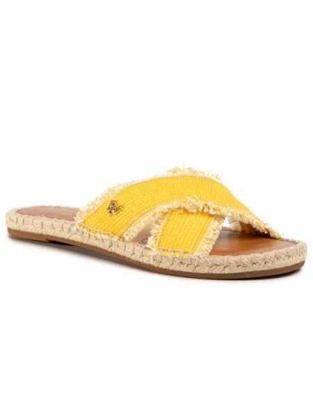 Sandały espadryle - żółte Lauren Ralph Lauren