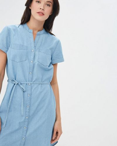 Джинсовое платье весеннее голубой Jacqueline De Yong