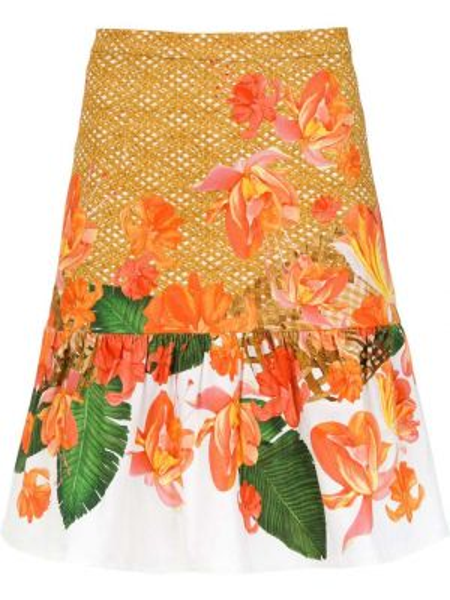 Хлопковая юбка с оборками Isolda