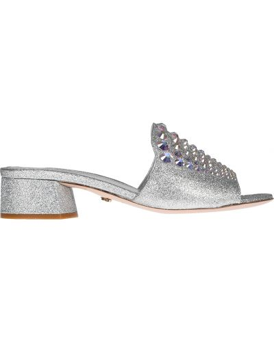 Мюли из серебра серебряный Le Silla