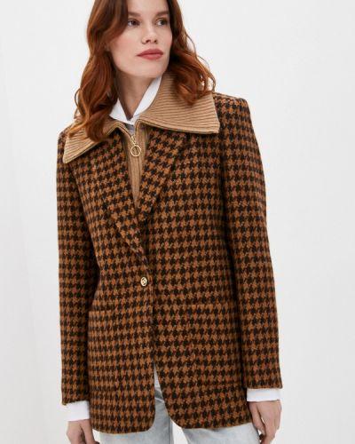 Коричневый пиджак Sandro