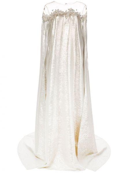 Платье с вышивкой на пуговицах Oscar De La Renta