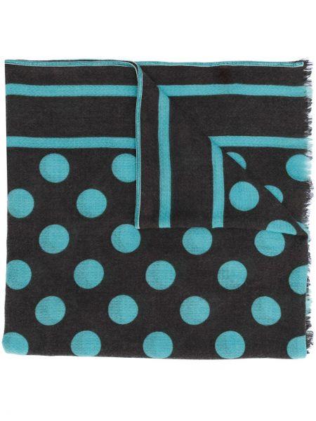 Prążkowany niebieski szalik wełniany Altea