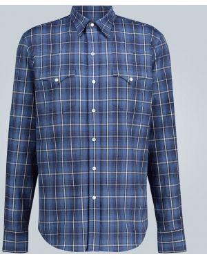 Koszula z długim rękawem karmazynowy w kratę Ralph Lauren Purple Label