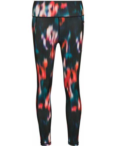 Czarne spodnie z printem Sweaty Betty