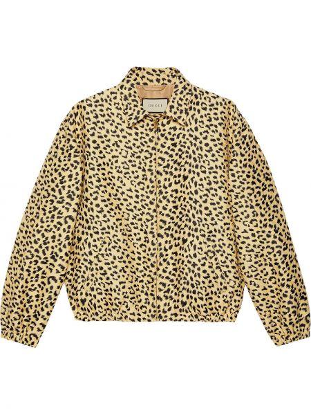 Klasyczny czarny długa kurtka z kieszeniami z długimi rękawami Gucci